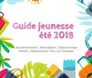 Couverture du guide jeunesse été 2018 de la ville de Coulaines