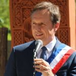 Christophe Rouillon, Maire de Coulaines lors de l'inauguration de la stèle commémorative du génocide arménien